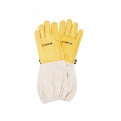4 pary skórzanych rękawic pszczelarskich- żółte