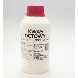 Kwas octowy 80% 0,5 l