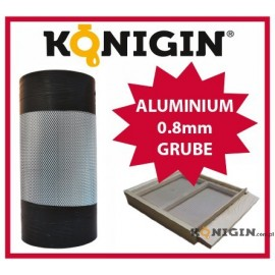 Siatka cięto-ciągniona aluminiowa, szerokość 420 mm, grubość 0.8mm