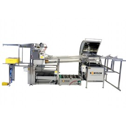 Automatyczna linia do odsklepiania plastrów i wirowania miodu - wersja podstawowa