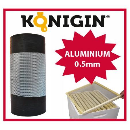 Siatka aluminiowa, szerokość 370mm, grubość 0.5mm,1 m.b.