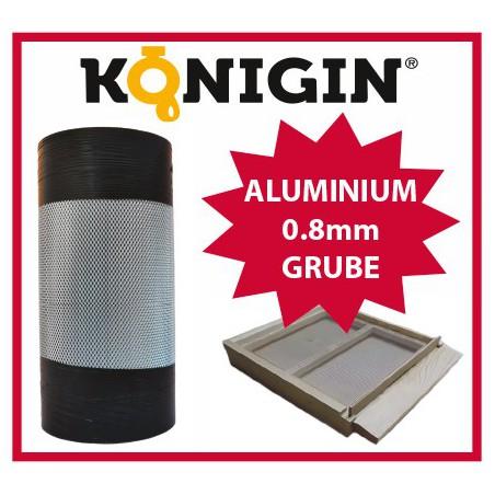 Siatka aluminiowa, szerokość 370mm, grubość 0.8mm, 1 m.b.