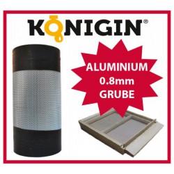 Siatka aluminiowa, szerokość 420mm, grubość 0.8mm,1m.b.
